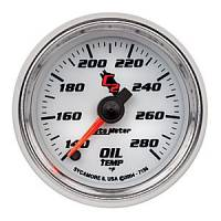 "C-2 Series Gauges - Auto Meter C-2 Oil, Water, Pyrometer, and Voltmeter Gauges - 2-1/16"" Oil Temperature Gauge"