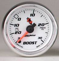 C-2 Series Gauges - Auto Meter C-2 Boost, Vacuum, and Nitrous Gauges - Boost 30 in Hg.-Vac./30 PSI