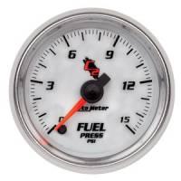 "C-2 Series Gauges - Auto Meter C-2 Tachometers, Speedometers, and Fuel Gauges - 2-1/16"" Fuel Pressure Gauge"