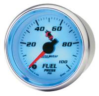 C-2 Series Gauges - Auto Meter C-2 Tachometers, Speedometers, and Fuel Gauges - Fuel Pressure 0-100 PSI