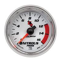 "C-2 Series Gauges - Auto Meter C-2 Boost, Vacuum, and Nitrous Gauges - 2-1/16"" Nitrous Pressure Gauge"