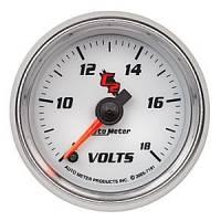 "C-2 Series Gauges - Auto Meter C-2 Oil, Water, Pyrometer, and Voltmeter Gauges - 2-1/16"" Voltmeter Full Sweep Gauge"