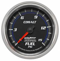 Cobalt Series Gauges - Auto Meter Cobalt Speedometers, Tachometers, and Fuel Gauges - Fuel Pressure Full Sweep Gauge