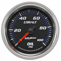 Cobalt Series Gauges - Auto Meter Cobalt Temperature and Oil Gauges - Oil Pressure Full Sweep