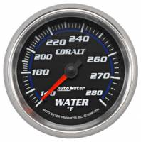 Cobalt Series Gauges - Auto Meter Cobalt Temperature and Oil Gauges - Water Temperature Full Sweep