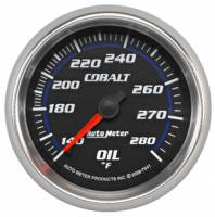 Cobalt Series Gauges - Auto Meter Cobalt Temperature and Oil Gauges - Oil Temperature Full Sweep