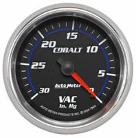 Cobalt Series Gauges - Auto Meter Cobalt Vacuum / Boost Gauges - Vacuum Gauge