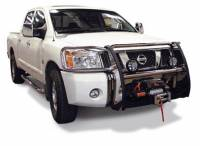 Armor - Winch Mount Grille/Brush Guards - Titan Stainless Steel Winch Mount Grill Guard