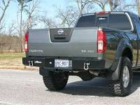 Rear Bumpers - Frontier - Frontier Rear Bumper with Receiver Hitch