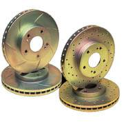 Brakes & Brake Lines - Rotors - Cross Drilled Front Rotors