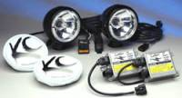"HID Lights - Long Range Lights - 5"" Black HID Long Range Driving Light System"