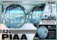 PIAA Lamps - 510, 520, 525, 540, 550 & 580 Series Lights - 520 Series Ion Crystal Chrome Driving Light Kit