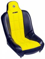 Seats and Seating Extras - Baja SS Seats - Baja SS Black Vinyl With Yellow Cloth Insert Seat