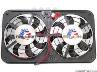 Performance - Performance Fans & Coolers - Dual 12 1/8 inch Lo-Profile S-Blade Electric Fan With Variable Speed Controller