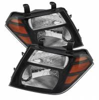 Euro Lights - Headlights - Pathfinder Amber Crystal Headlights In Black