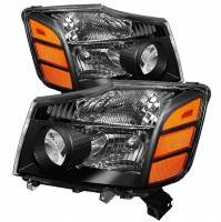 Euro Lights - Headlights - Amber Headlights Set - Black