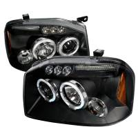 Lighting & Light Accessories - LED Headlights - FRONTIER HALO LED PROJECTOR HEADLIGHTS IN BLACK