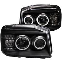 Lighting & Light Accessories - LED Headlights - PROJECTOR HEADLIGHTS w/ L.E.D BAR BLACK CLEAR (CCFL)