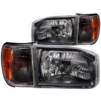 Euro Lights - Headlights - CRYSTAL HEADLIGHTS BLACK w/ CORNER LIGHT