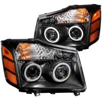 Lighting & Light Accessories - LED Headlights - PROJECTOR HEADLIGHTS BLACK w/ HALO (CCFL)