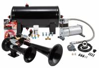 Horns - Complete Air Horn Kits - PROBLASTER COMPLETE OSCILLATING DUAL ABS EURO TONE HORN PACKAGE