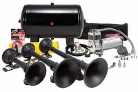 Horns - Complete Air Horn Kits - PROBLASTER COMPLETE ULTIMATE TRIPLE TRAIN HORN PACKAGE