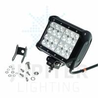 "Lighting & Light Accessories - Light Bars - 6.5"" Quad Row 72 Watt Flood Post Mount Light Bar"