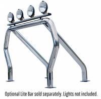 Chrome Single Bar/Single Kicker Bed Bars