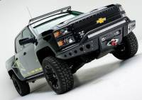 Armor - FRONT BUMPERS - CHEVY SILVERADO STEALTH FRONT BUMPER WITH WINCH MOUNT