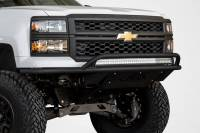 Armor - FRONT BUMPERS - CHEVY SILVERADO ADD LITE FRONT BUMPER WITH TOP HOOP