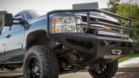 Armor - FRONT BUMPERS - CHEVY 2500/3500 HONEYBADGER RANCHER FRONT BUMPER WITH WINCH MOUNT