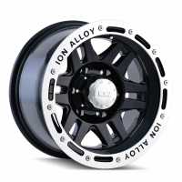Wheels & Tires - Wheels - ION ALLOY BLACK/MACHINED LIP 17X9 RIM