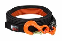 "Trail Gear - Kinetic Tow Ropes & Recovery Kits - 3/8"" x 50' SUPERLINE XD BLACK WINCH LINE WITH G100 COBRA SLING HOOK"