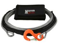 "Trail Gear - Kinetic Tow Ropes & Recovery Kits - 1/4"" SUPERLINE WINCH EXTENSION WITH G100 COBRA SLING HOOK"